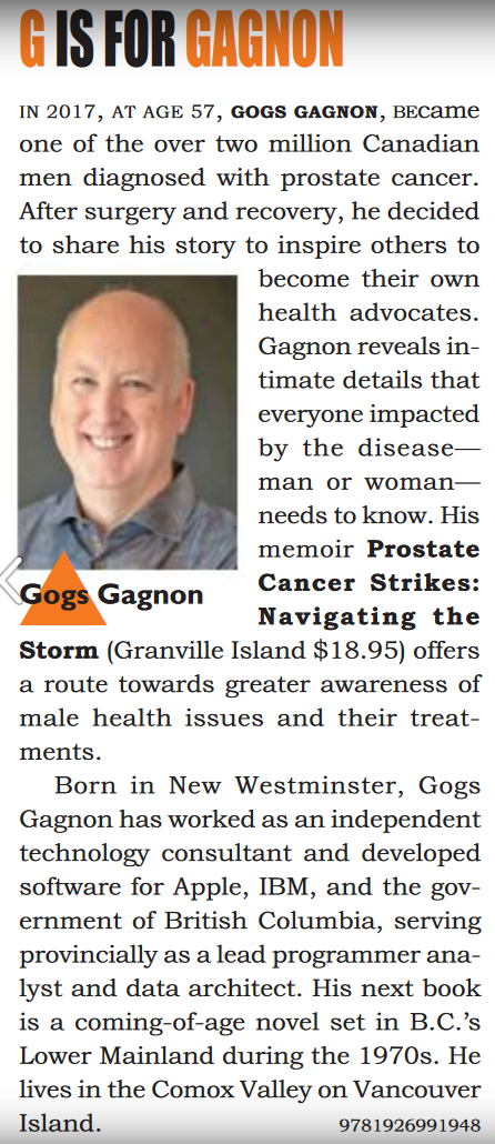 g is for gogs gagnon