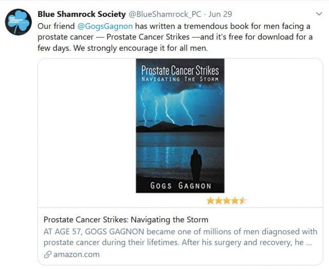blue shamrock society on prostate cancer strikes