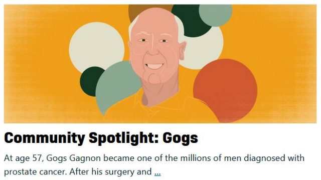 gogs gagnon featured in community spotlight on prostatecancer.net