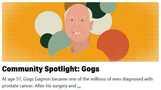 gogs gagnon featured in community spotlight on prostatecancer.net